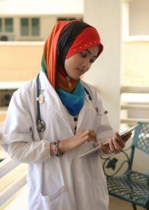 Doctor using a iPad